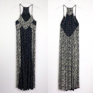Lucky Brand | Boho Floral Print Maxi Dress